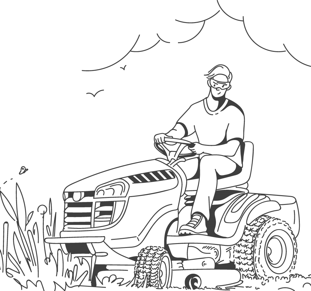 ride on mowing services